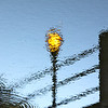 February 28, 2013. Reflected lamp post.